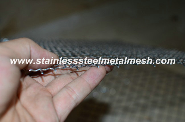 1.25mm Stainless Steel Wire 16mm Hole size Crimped Wire Mesh