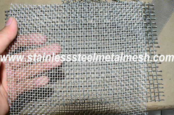 BWG10 (3.25mm Wire Dia.) Crimped Wire Mesh Aperture Size 10mm