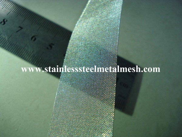 Stainless Steel Wire Mesh Slitting Services